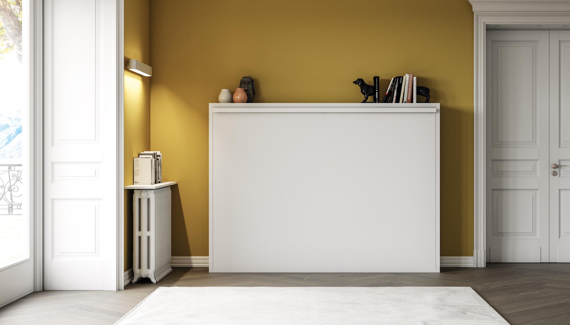 Armoire Gain De Place lit escamotable horizontal modèle zen spécial gain de place